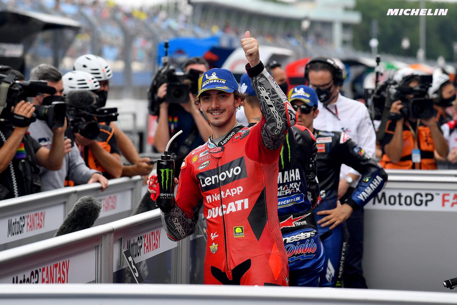 MotoGP2021 オランダGP 予選3位フランセスコ・バグナイア「前半はヤマハ2人の抑え込みたい」
