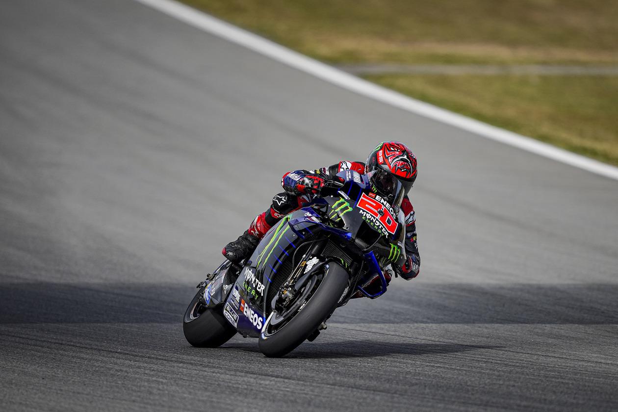 MotoGP2021カタルーニャGP 初日総合3位ファビオ・クアルタラロ「リアハードも検討したほうが良いかもしれない」