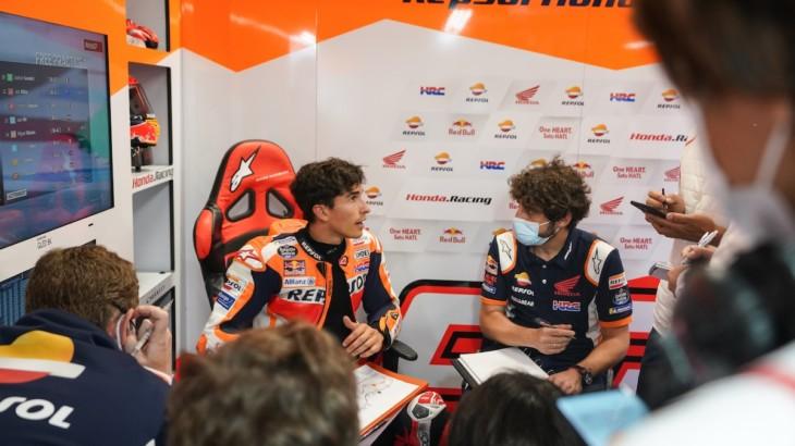 MotoGP2021 オランダGP 初日総合6位マルク・マルケス「あの種の転倒はホンダでしか起きない」