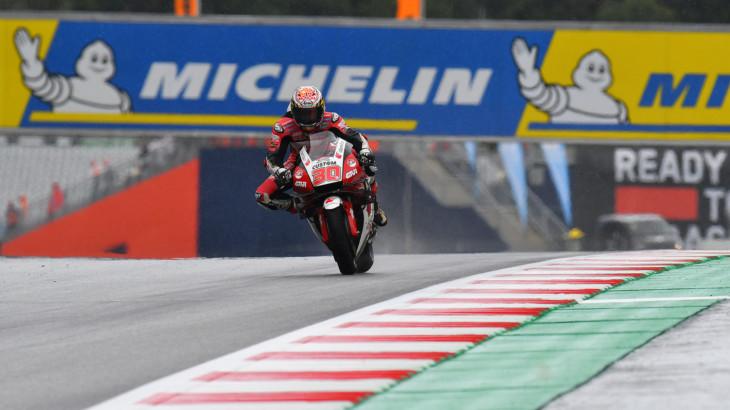 MotoGP2021スティリアGP 初日総合1位 中上 貴晶「FP1の結果には驚いた」