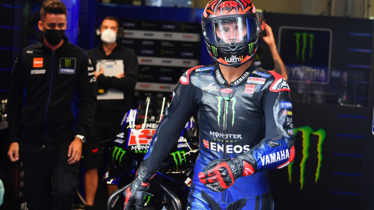 MotoGP2021スティリアGP 初日総合8位 ファビオ・クアルタラロ「なぜかハーフウェットで苦戦した」