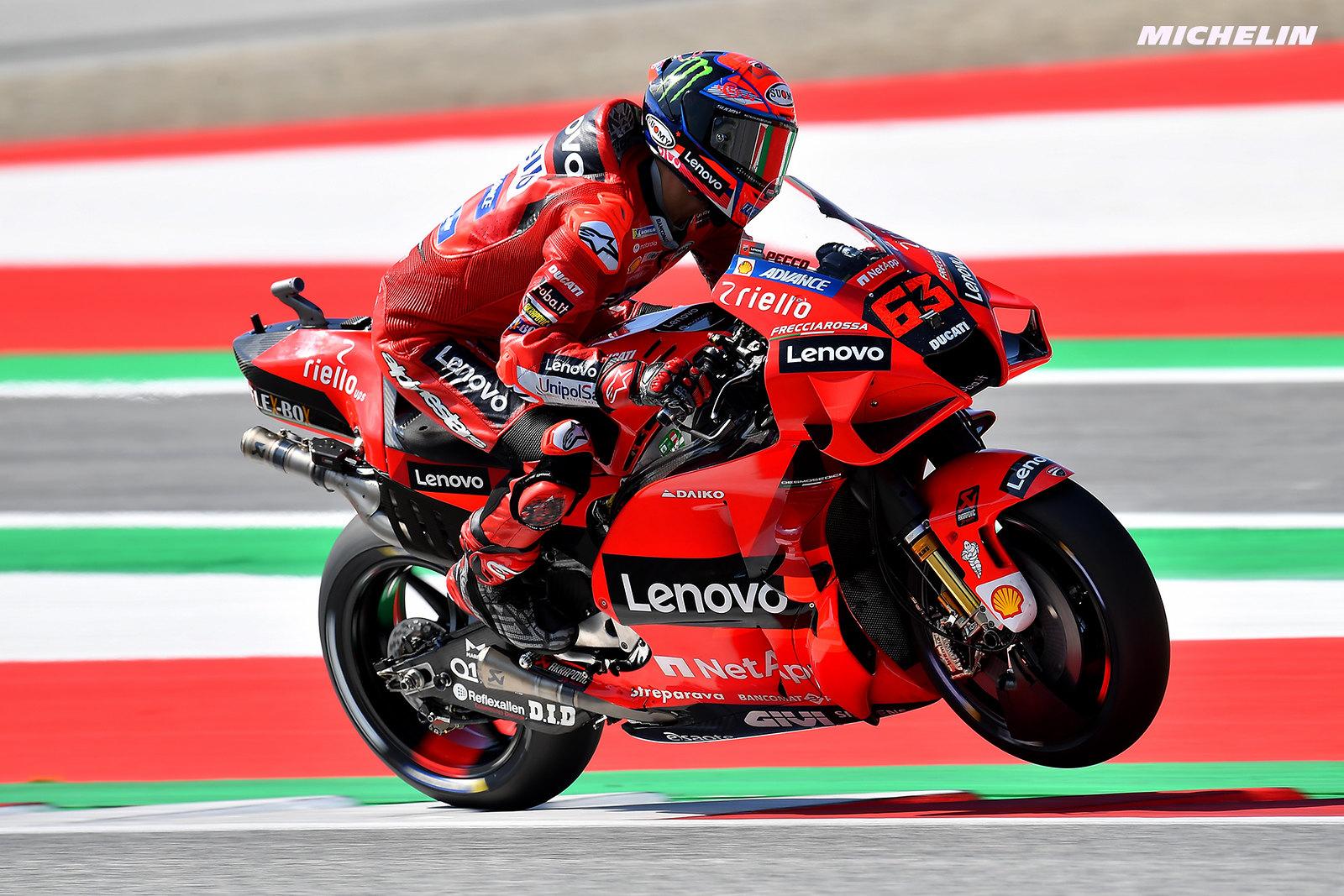 MotoGP2021スティリアGP 予選2位フランセスコ・バグナイア「あらゆるコンディションで自信がある」