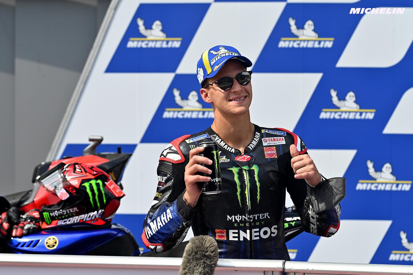 MotoGP2021スティリアGP 予選3位ファビオ・クアルタラロ「明日はドライコンディションのレースを願っている」