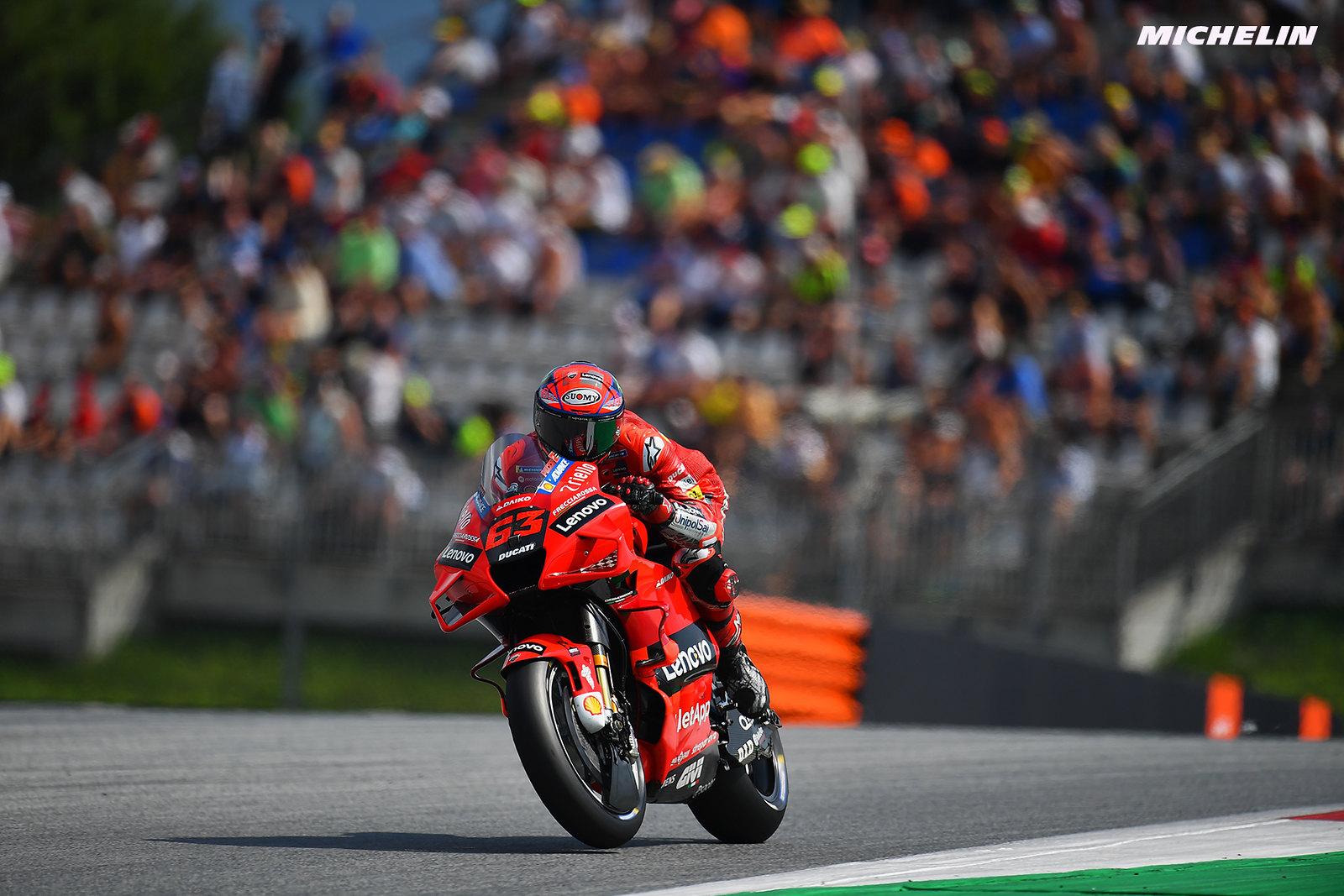 MotoGP2021オーストリアGP 予選3位フランセスコ・バグナイア「ミシュランと話し合いを持ちたい」