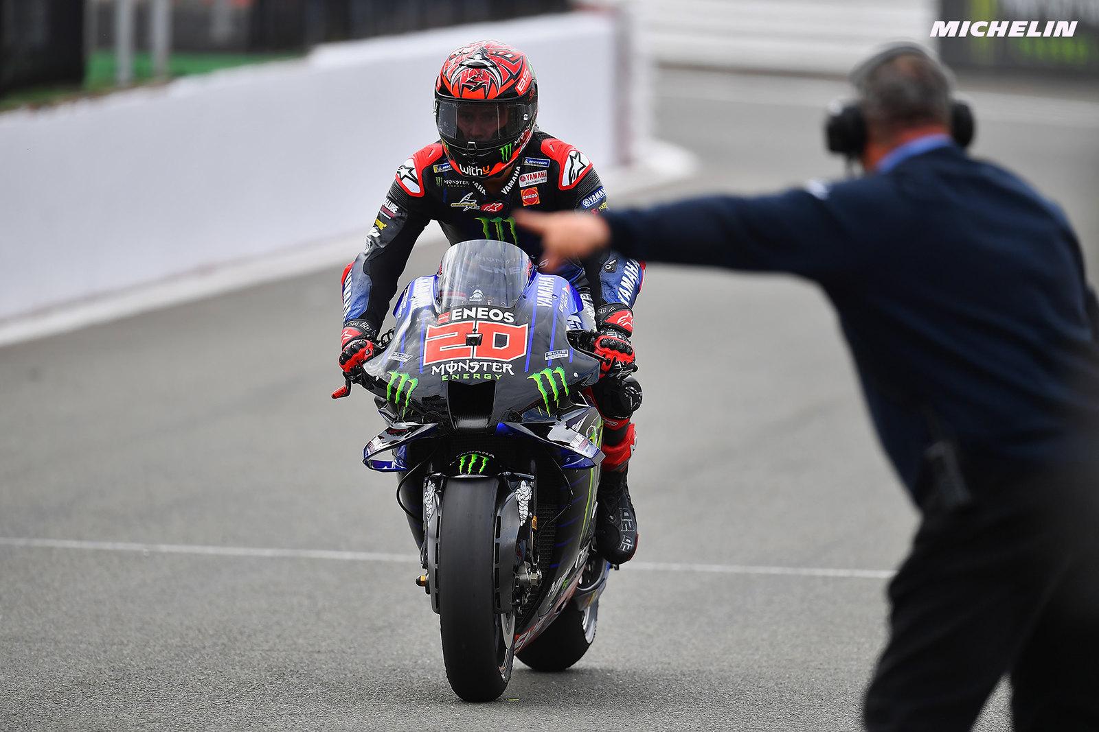MotoGP2021イギリスGP 予選3位ファビオ・クアルタラロ「予選でリアの感触がイマイチだった」