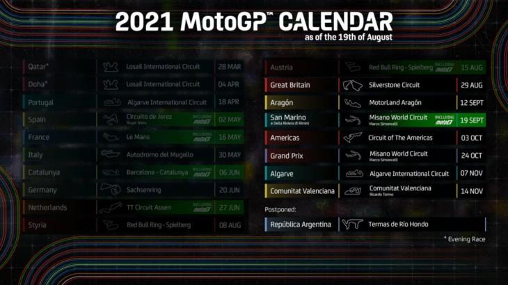 MotoGP2021 10月開催予定だったマレーシアGPが中止