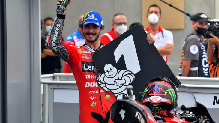 アラゴンGP 予選1位フランチェスコ・バニャイア「自分のタイムに驚いた」