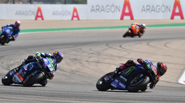 MotoGP2021アラゴンGP 8位ファビオ・クアルタラロ「時にはこういうレースもある」