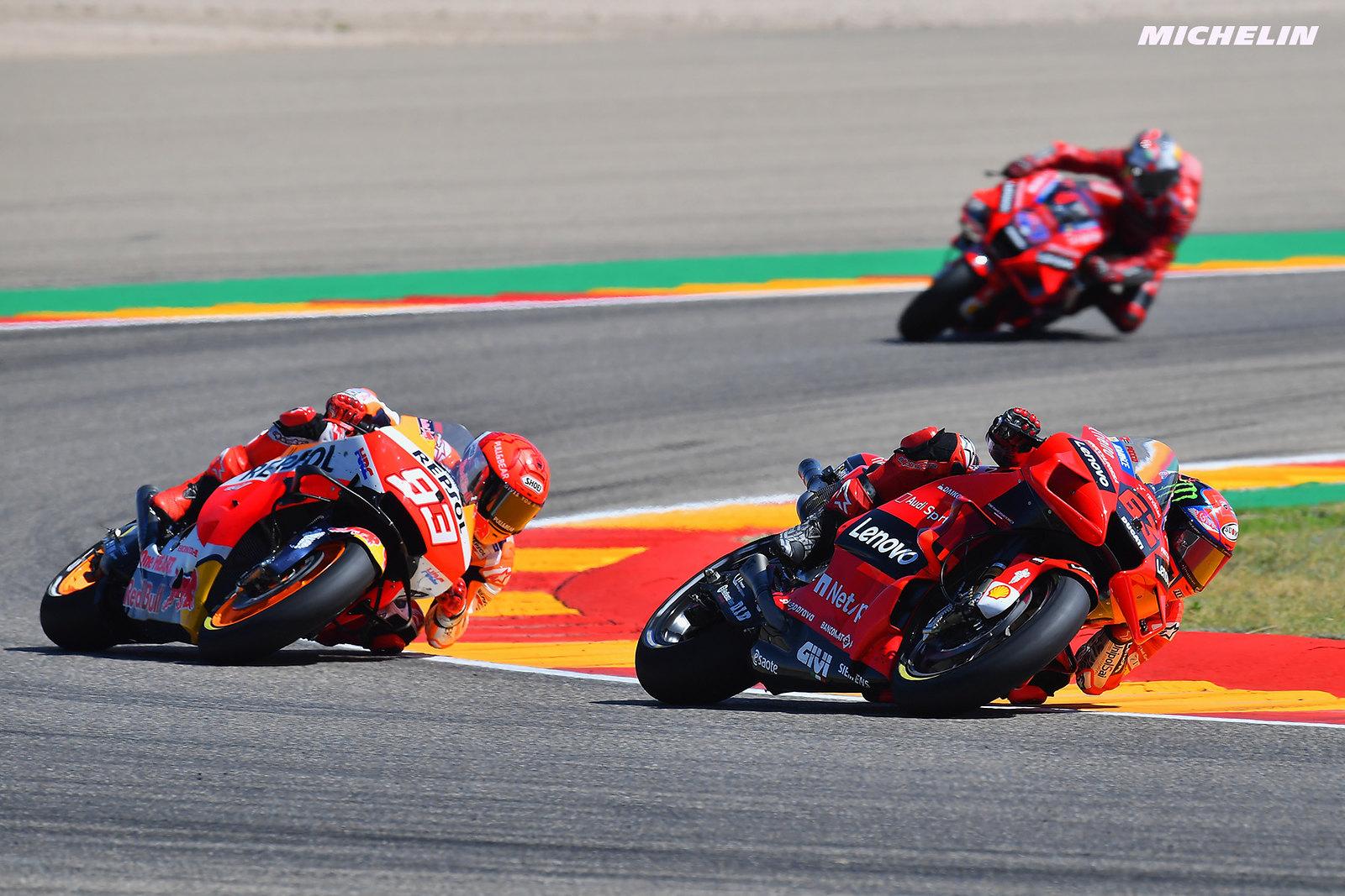 MotoGP2021アラゴンGP 優勝フランチェスコ・バニャイア「バレが明日はペッコの日になると言ってくれた」