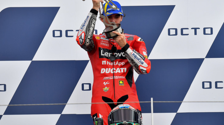 MotoGP2021サンマリノGP 優勝フランチェスコ・バニャイア「序盤に飛ばせるだけ飛ばした」