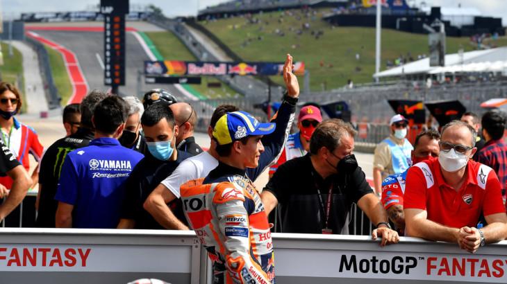 MotoGP2021アメリカズGP 予選3位マルク・マルケス「フロントローに戻ってこれて嬉しい」