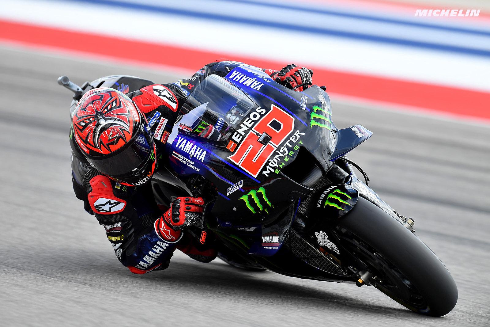 MotoGP2021アメリカズGP 予選2位ファビオ・クアルタラロ「少なくともトップ5を狙いたい」